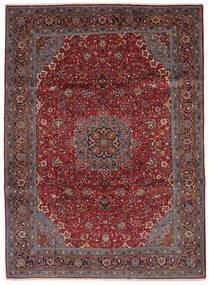 Sarough Matto 219X300 Itämainen Käsinsolmittu Musta/Tummanruskea (Villa, Persia/Iran)