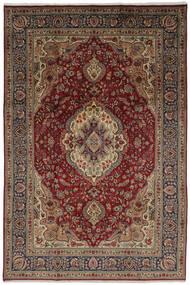 Tabriz Matto 206X304 Itämainen Käsinsolmittu Tummanruskea/Musta (Villa, Persia/Iran)