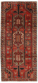 Ardebil Matto 140X308 Itämainen Käsinsolmittu Käytävämatto Musta/Tummanpunainen (Villa, Persia/Iran)