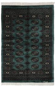 Pakistan Bokhara 3Ply Matto 120X175 Itämainen Käsinsolmittu Musta/Tummanvihreä (Villa, Pakistan)