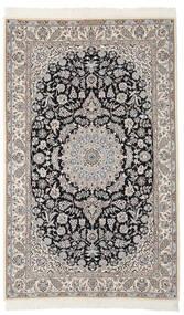 Nain 9La Matto 137X217 Itämainen Käsinsolmittu Tummanharmaa/Musta (Villa/Silkki, Persia/Iran)