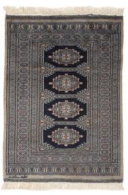Pakistan Bokhara 2Ply Matto 79X111 Itämainen Käsinsolmittu Musta/Tummanharmaa (Villa, Pakistan)