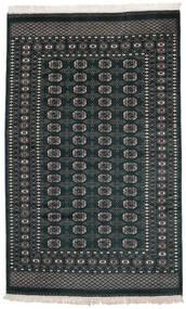 Pakistan Bokhara 2Ply Matto 158X253 Itämainen Käsinsolmittu Musta (Villa, Pakistan)