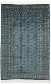 Pakistan Bokhara 2Ply Matto 150X230 Itämainen Käsinsolmittu Musta/Tumma Turkoosi (Villa, Pakistan)