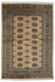 Pakistan Bokhara 3Ply Matto 140X204 Itämainen Käsinsolmittu Tummanruskea/Ruskea/Musta (Villa, Pakistan)