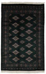 Pakistan Bokhara 3Ply Matto 150X234 Itämainen Käsinsolmittu Musta (Villa, Pakistan)
