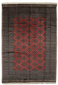 Pakistan Bokhara 3Ply Matto 227X320 Itämainen Käsinsolmittu Musta/Tummanruskea (Villa, Pakistan)