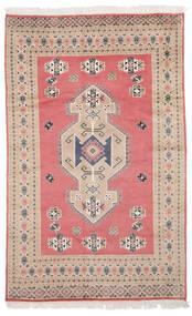 Pakistan Bokhara 2Ply Matto 155X243 Itämainen Käsinsolmittu Tummanpunainen/Ruoste (Villa, Pakistan)
