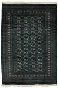 Pakistan Bokhara 2Ply Matto 190X277 Itämainen Käsinsolmittu Musta (Villa, Pakistan)