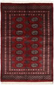 Pakistan Bokhara 3Ply Matto 125X188 Itämainen Käsinsolmittu Musta/Tummanpunainen (Villa, Pakistan)
