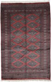 Pakistan Bokhara 3Ply Matto 122X185 Itämainen Käsinsolmittu Musta/Tummanruskea (Villa, Pakistan)