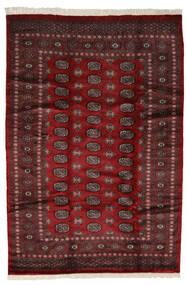 Pakistan Bokhara 3Ply Matto 191X280 Itämainen Käsinsolmittu Musta/Tummanpunainen (Villa, Pakistan)