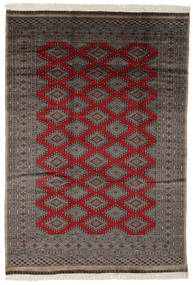 Pakistan Bokhara 3Ply Matto 187X270 Itämainen Käsinsolmittu Musta/Tummanruskea (Villa, Pakistan)