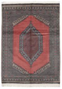 Pakistan Bokhara 2Ply Matto 133X180 Itämainen Käsinsolmittu Musta/Punainen (Villa, Pakistan)