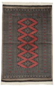 Pakistan Bokhara 2Ply Matto 94X140 Itämainen Käsinsolmittu Musta/Tummanharmaa (Villa, Pakistan)