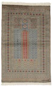 Pakistan Bokhara 2Ply Matto 94X150 Itämainen Käsinsolmittu Tummanruskea/Musta (Villa, Pakistan)