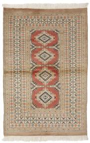 Pakistan Bokhara 2Ply Matto 97X146 Itämainen Käsinsolmittu Tummanruskea/Ruskea (Villa, Pakistan)