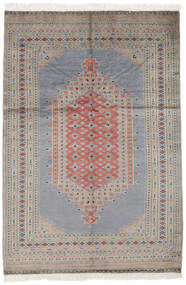 Pakistan Bokhara 2Ply Matto 125X187 Itämainen Käsinsolmittu Tummanharmaa/Tummanruskea (Villa, Pakistan)