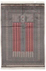 Pakistan Bokhara 2Ply Matto 129X188 Itämainen Käsinsolmittu Musta/Tummanruskea (Villa, Pakistan)