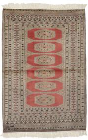 Pakistan Bokhara 2Ply Matto 94X141 Itämainen Käsinsolmittu Tummanruskea/Ruskea (Villa, Pakistan)