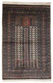 Pakistan Bokhara 2Ply Matto 95X150 Itämainen Käsinsolmittu Musta/Tummanruskea (Villa, Pakistan)