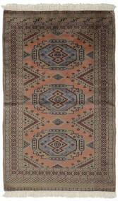 Pakistan Bokhara 2Ply Matto 93X154 Itämainen Käsinsolmittu Tummanruskea/Musta (Villa, Pakistan)