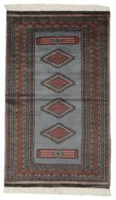 Pakistan Bokhara 2Ply Matto 95X156 Itämainen Käsinsolmittu Musta/Tummanharmaa (Villa, Pakistan)