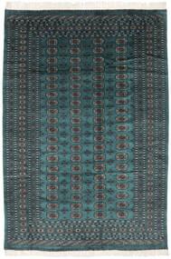 Pakistan Bokhara 2Ply Matto 190X277 Itämainen Käsinsolmittu Musta/Tumma Turkoosi (Villa, Pakistan)