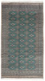 Pakistan Bokhara 3Ply Matto 152X272 Itämainen Käsinsolmittu Tummanharmaa/Musta (Villa, Pakistan)