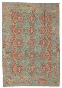 Kelim Afghan Old Style Matto 174X245 Itämainen Käsinkudottu Tummanruskea/Ruskea (Villa, Afganistan)