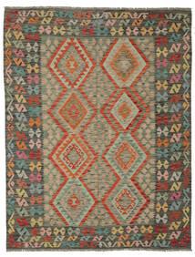 Kelim Afghan Old Style Matto 180X231 Itämainen Käsinkudottu Tummanvihreä/Tummanruskea (Villa, Afganistan)