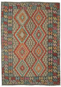 Kelim Afghan Old Style Matto 179X246 Itämainen Käsinkudottu Tummanvihreä/Tummanruskea (Villa, Afganistan)