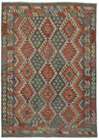 Kelim Afghan Old Style Matto 177X247 Itämainen Käsinkudottu Tummanruskea/Musta/Tummanvihreä (Villa, Afganistan)
