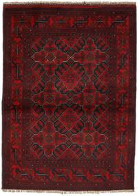 Afghan Khal Mohammadi Matto 104X144 Itämainen Käsinsolmittu Musta/Tummanpunainen (Villa, Afganistan)