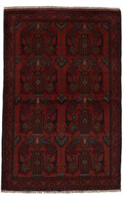 Afghan Khal Mohammadi Matto 96X153 Itämainen Käsinsolmittu Musta (Villa, Afganistan)