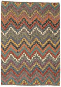 Kelim Afghan Old Style Matto 181X254 Itämainen Käsinkudottu Tummanruskea/Musta (Villa, Afganistan)