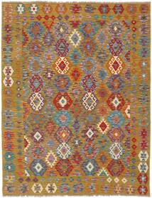 Kelim Afghan Old Style Matto 158X199 Itämainen Käsinkudottu Tummanruskea/Ruskea (Villa, Afganistan)