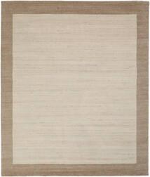 Handloom Frame - Natural/Sand Matto 250X300 Moderni Vaaleanruskea/Vaaleanharmaa/Tummanruskea Isot (Villa, Intia)