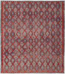 Kelim Afghan Old Style Matto 263X297 Itämainen Käsinkudottu Tummanruskea/Tummanpunainen Isot (Villa, Afganistan)