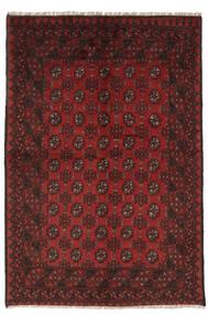 Afghan Matto 148X222 Itämainen Käsinsolmittu Musta/Tummanpunainen (Villa, Afganistan)