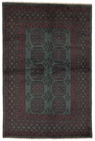 Afghan Matto 159X242 Itämainen Käsinsolmittu Musta (Villa, Afganistan)