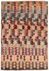 Moroccan Berber - Afghanistan Matto 174X256 Moderni Käsinsolmittu Ruskea/Tummanruskea (Villa, Afganistan)