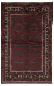Beluch Matto 153X240 Itämainen Käsinsolmittu Musta (Villa, Afganistan)