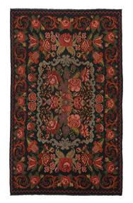 Ruusukelim Moldavia Matto 208X340 Itämainen Käsinkudottu Musta/Valkoinen/Creme (Villa, Moldova)