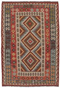 Kelim Afghan Old Style Matto 132X192 Itämainen Käsinkudottu Tummanruskea/Ruskea (Villa, Afganistan)