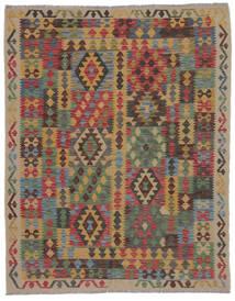 Kelim Afghan Old Style Matto 150X195 Itämainen Käsinkudottu Ruskea/Musta/Tummanruskea (Villa, Afganistan)