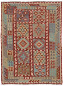 Kelim Afghan Old Style Matto 150X200 Itämainen Käsinkudottu Tummanruskea/Ruskea (Villa, Afganistan)
