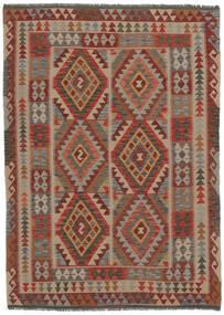 Kelim Afghan Old Style Matto 153X215 Itämainen Käsinkudottu Tummanruskea/Musta (Villa, Afganistan)