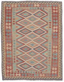 Kelim Afghan Old Style Matto 163X210 Itämainen Käsinkudottu Tummanruskea/Ruskea (Villa, Afganistan)