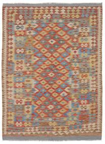 Kelim Afghan Old Style Matto 144X200 Itämainen Käsinkudottu Tummanruskea/Ruskea (Villa, Afganistan)